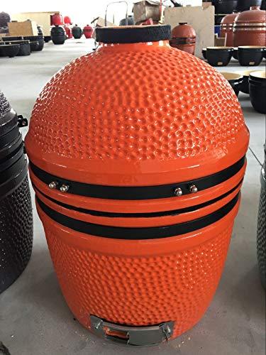 """YNNI KAMADO TQ0015OR 15.7"""" Free Standing Kamado, Grill,Limited Edition Orange, BBQ, Ceramic, Egg, Smoker, TQ0015OR"""