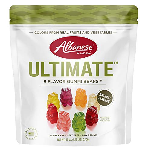 Albanese Ultimate 8 Flavor Gummi Bears see package 25 Ounce