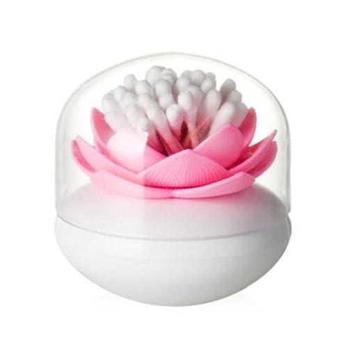 Oyfel Boîte Rangement Porte-Cure-Dents Cotons Tiges Swab Organizer Boîte Décoratif à Stockage de Cure-Dents Lotus Holder Maison Decor