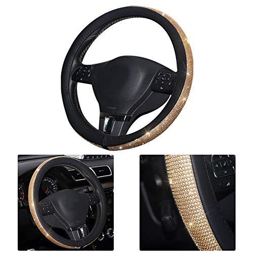 Gereton - Funda para volante de coche, diseño de diamantes de imitación
