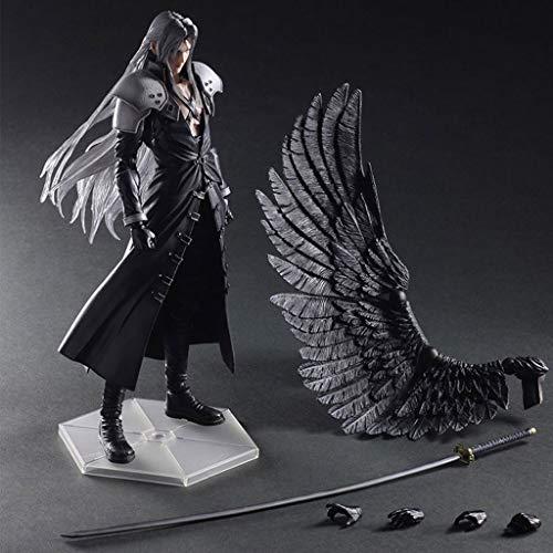 MMZ Pop Figura Final Fantasy VII: Advent Children - Sephiroth Atcion Figura Figura Colección de PA Kai - Alas y reemplazables Manos 11