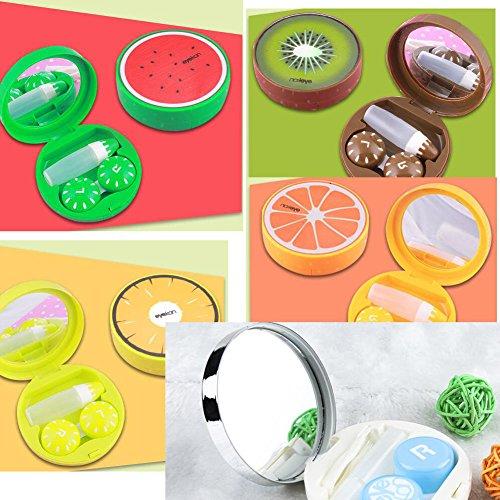 Kiwi Fruit Pattern Design Kontaktlinsen Gehäuse mit Spiegel