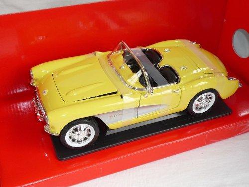Chevrolet Chevy Corvette C1 1957 Cabrio Gelb Oldtimer 1/18 Yatming Modellauto Modell Auto