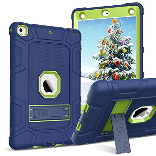 BENTOBEN iPad 9.7 2017 Hülle Schutzhülle, iPad 9.7 Case mit Faltbarer Kickstand Hybrid PC Hartschale und Silikon Cover stoßfeste Schutzhülle für iPad 9.7 2017/2018 A1822/A1823/A1893/A1954 Blau