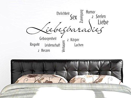 GRAZDesign Home Dekoration modern Liebessprüche & Liebespaar, Schlafzimmer Tattoo Wortwolke über Liebe, Wandtattoo Geschenk für Hochzeit / 97x50cm / 073 dunkelgrau