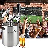 Mini barril de acero inoxidable de 2 litros, kit de barril casero, con grifo, sistema dispensador de cerveza artesanal...