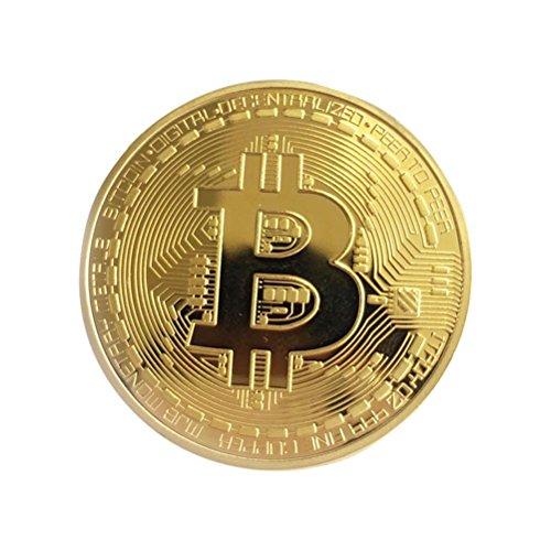 rosenice Moedas comemorativas Bitcoin colecionadores, coleção de arte de moeda presente (dourado)