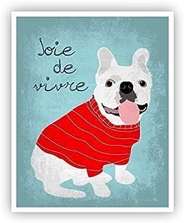 French Bulldog Poster Joie de Vivre 11 x 14