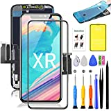 for iPhone XR Screen Replacement,LCD Display Touch Screen Assembly,Compatible with iPhone XR Screen Replacement 6.1 inch (Model A1984, A2105, A2106, A2108) with Screen Protector and Repair Tools