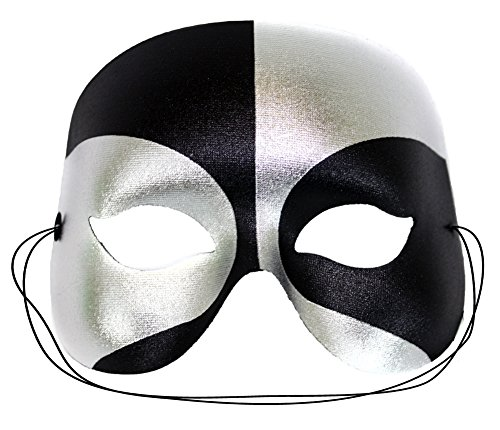 Success Creations Masquerade Mask for Men Black Silver