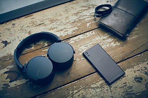 ソニーワイヤレスノイズキャンセリングヘッドホン重低音モデルMDR-XB950N1:Bluetooth/専用スマホアプリ対応360RealityAudio認定モデルブラックMDR-XB950N1B