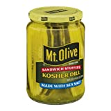 Mt. Olive Sandwich Stuffers Kosher Dill Made with Sea Salt 24 Oz (Pack of 2)