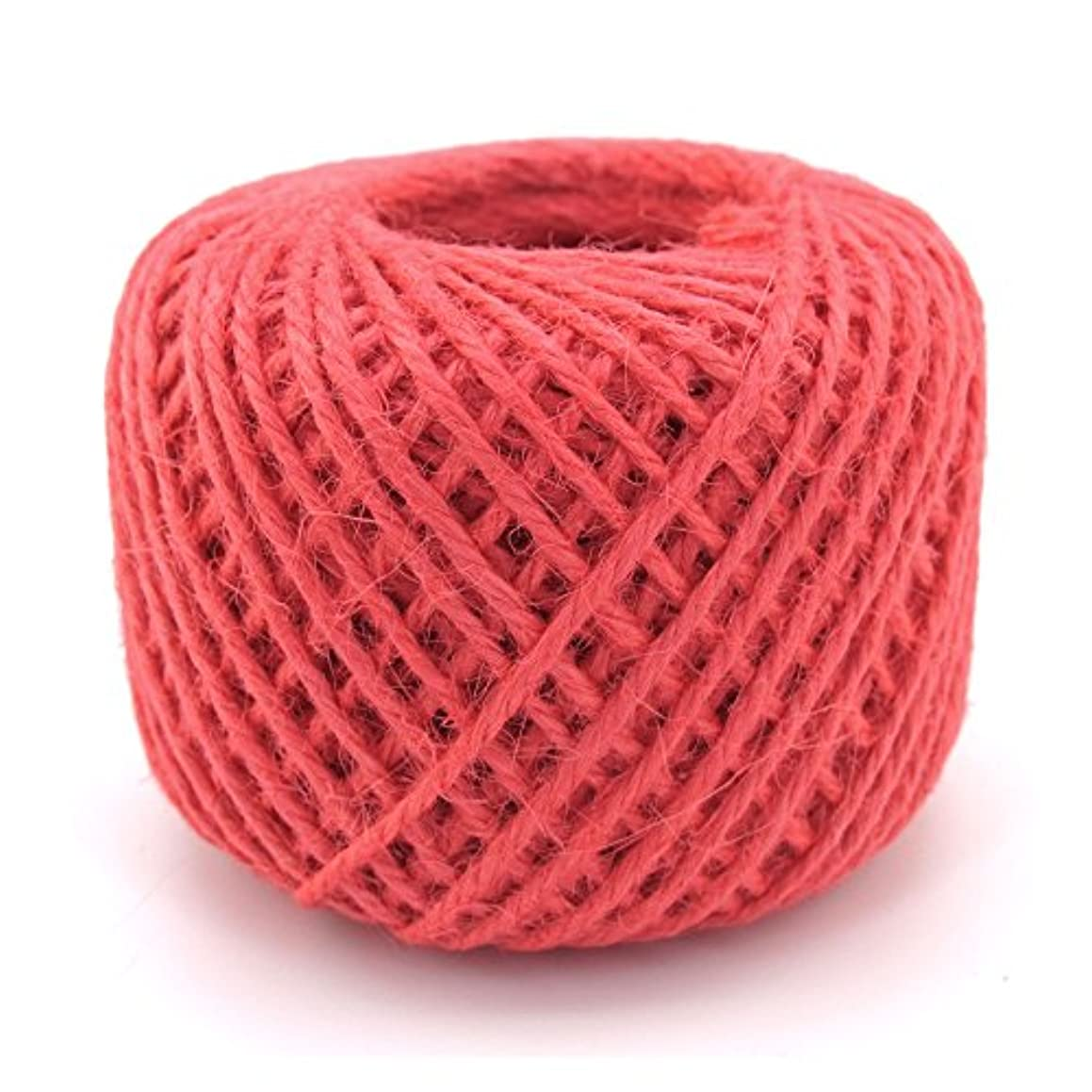 BambooMN 75 Yard, 2mm Crafty Jute Twine Thread Cord String Hemp Jute for Artworks, DIY Crafts, Gift Wrapping, Picture Display and Gardening, 3 Balls Pink