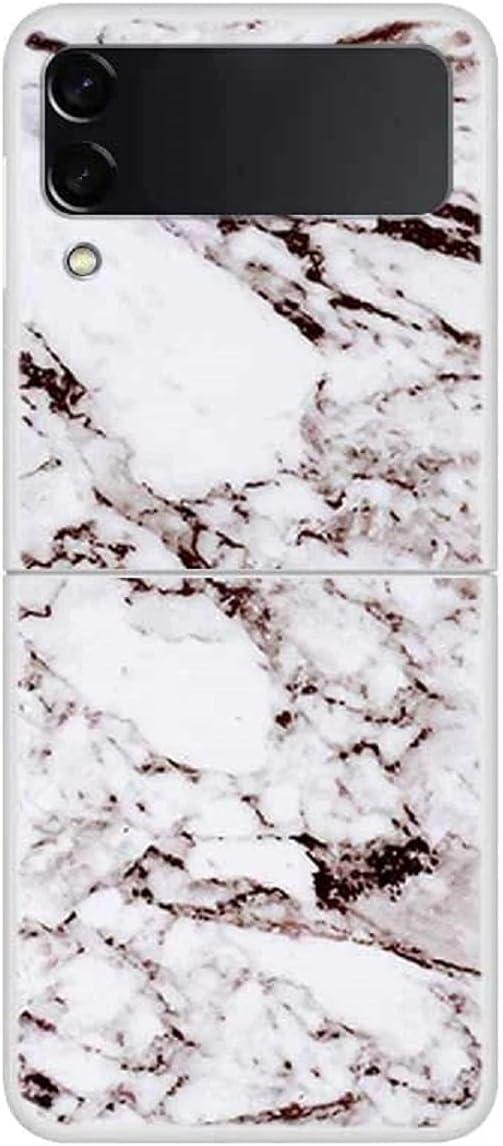 FUTURECASE Z Flip 3 Marble Case, Galaxy z Flip 3 Case Marble, Hard PC Samsung Z Flip 3 Marble Case Fashion Clear Bumper, Colorful Stone Marble Galaxy ZFlip 3 ZFlip3 Z Flip3 5G Funda Phone Cover(11)