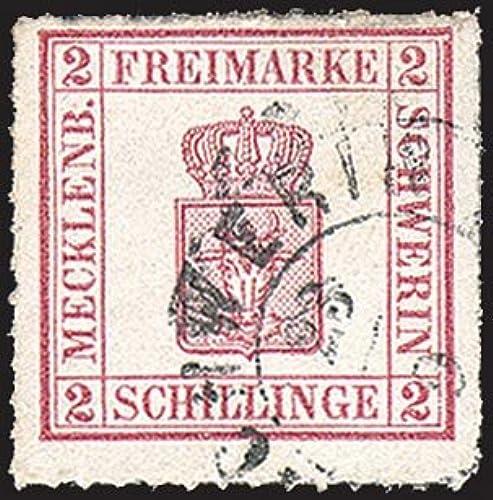 Goldhahn Mecklenburg-Schwerin Nr. 6 gestempelt Briefmarken für Sammler