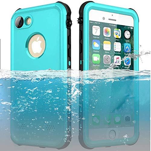 ChuWill Funda Impermeable iPhone 7, Carcasa iPhone 8, Certificado IP68 Antigolpes Sumergible Protección 360º Funda para iPhone 7/8 (4.7 Inch) - Azul