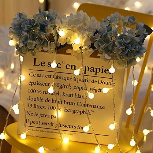 Luz de hadas Bola LED impermeable Cadena de luces de hadas Cadena de luces LED Decoración navideña Iluminación Batería 2m10 leds
