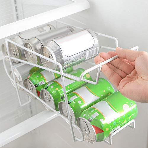 Baodanh Contenitore in ferro per lattine di birra e bibite, per frigorifero 34.5*14.5*18.5 CM bianco
