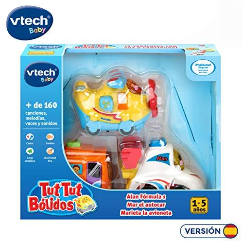 VTech Tut Bólidos 3 coches. Bus, vliegtuig, formule 1, kleur (3480-242177)