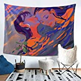 Girls' love LGBT Tapestry Wall Hanging,Aesthetic Tapestry Wall Blanket Multifunctional Mat for Home Kitchen Office Dorm Party Decoration 60x40 inch