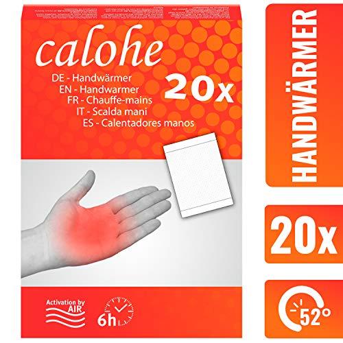 calohe Handwärmer - Taschenwärmer für die kalte Jahreszeit I Wärmekissen für Hände und Finger I 20x Wärmepads | 100{2b644a3258bf19bb1cf8dc081af9159599414045e3727dbb992f1cf08cb360e8} natürliche Inhaltsstoffe