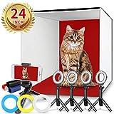 Photo Studio Box, FOSITAN 24x24 inches Table Top Photo Light Box Continous...