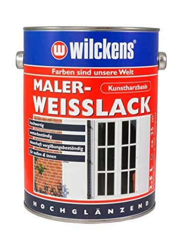 Wilckens Maler-Weisslack 2,5 l Farbe Farblack Lackfarbe Decklack Kunstharz-Decklack Weißlack