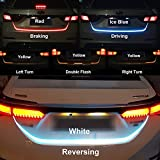 Trunk Lights - LED Strip Trunk Tail Brake Turn Signal Light Flow Type Ice Blue Red Yellow White