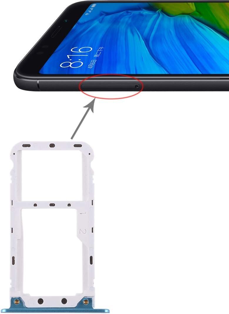WANGZHEXIA Repuestos para Xiaomi 2 Bandeja de Tarjeta SIM/Bandeja de Tarjeta Micro SD para Xiaomi Redmi 5 Plus