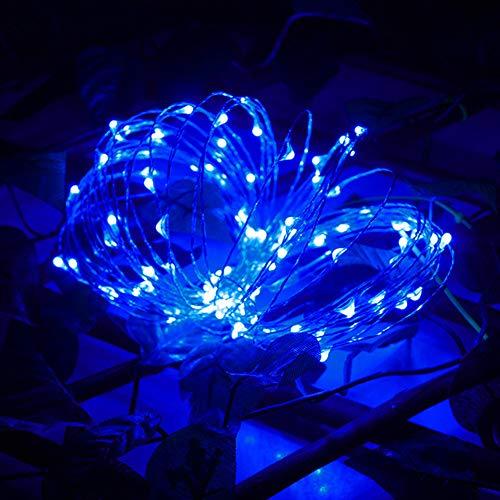 Julgran älva ljusslingor lampor färgglad belysning glödlampa linje 30 LED knappcell driven mini vacker gran gran ljus bröllop familj festival dekoration