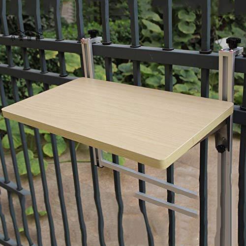 LLA Opklapbare Opklapbare Tafel Balkon Kleine Bar Opklapbare Tafel Vrije tijd Tafelbureau Gemakkelijk op te hangen Computer Bureau Wood 100 x 35 cm.