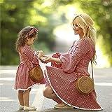 Vestido De Madre E Hija - Moda Verano Madre Hija Vestido Mamá Y Yo Mujeres Niños Niñas Lindo Vestido Estampado A Cuadros Elegante Vestido De Princesa De La Noche Vestido Madre Ropa Casual De Fies