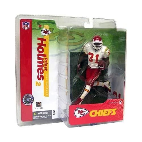 a7651daabb6 Amazon.com: Priest Holmes 2nd Edition Kansas City Chiefs White Jersey  Variant Alternate Chase McFarlane NFL Series 9 Action Figure: Toys & Games