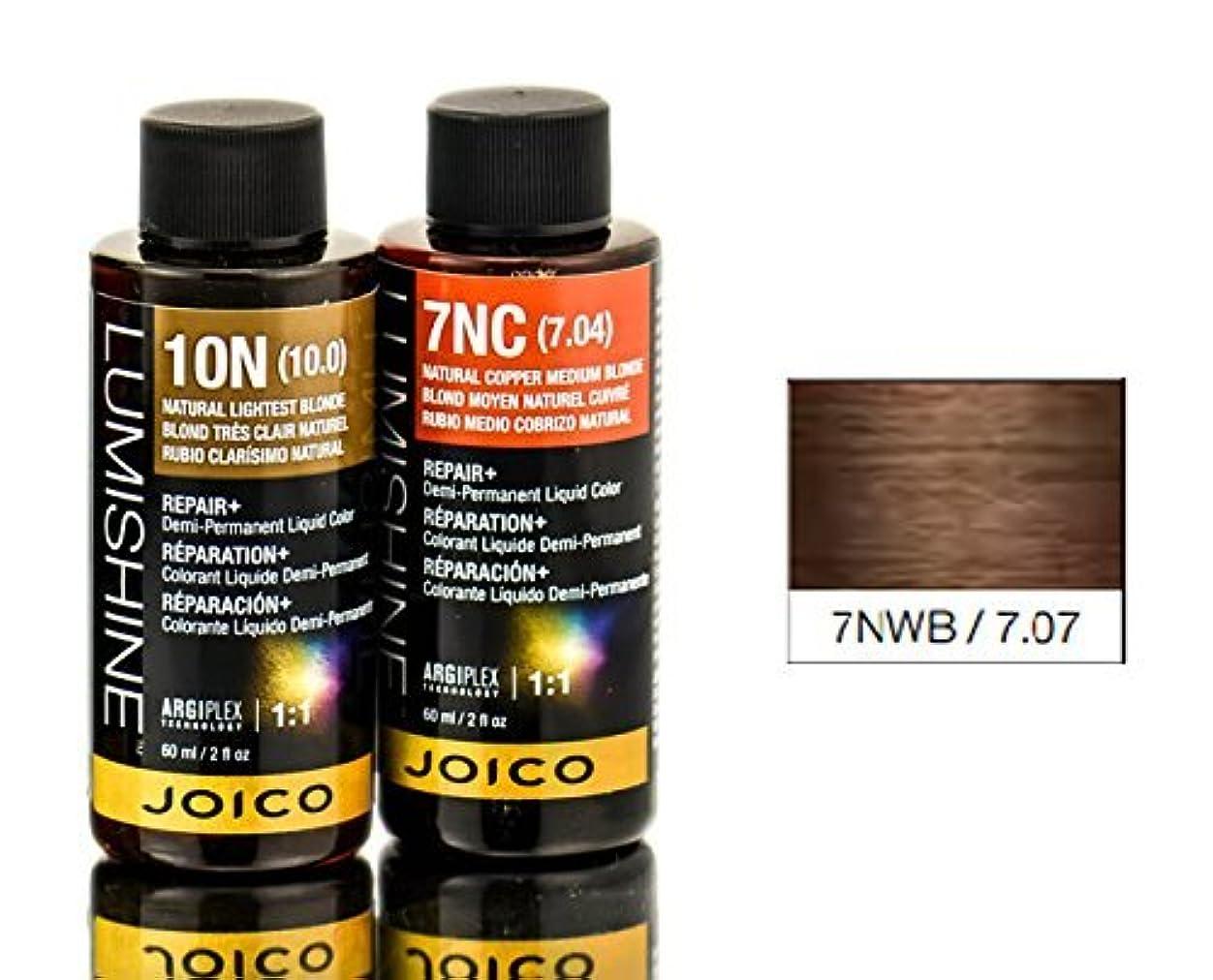 全体に軽食意味のあるJoico Lumishineデミパーマネント液体色、7nwb /7.07、 2オンス
