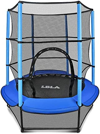 LBLA Kids Trampoline 55 Mini Trampoline for Kids with Enclosure Net and Safety Pad Heavy Duty product image