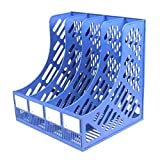 CVBN Estante para Archivos de Almacenamiento de Escritorio Porta Documentos Porta Archivos de estantería Vertical, Azul