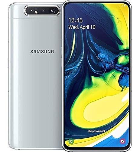 "Samsung Galaxy A80 (128GB, 8GB RAM) 6.7"" Display, Rotating Triple Camera, Snapdragon 730, US & Global 4G LTE Dual SIM GSM Factory Unlocked SM-A805F/DS - International Model (Ghost White)"