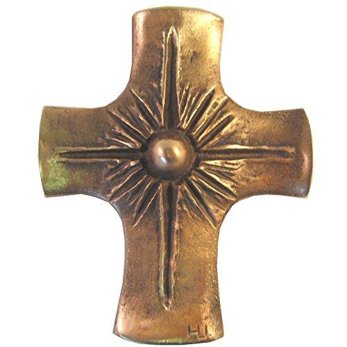 Wilde Bronzekreuz Bronze Kreuz Sonne 12 cm * 10 cm