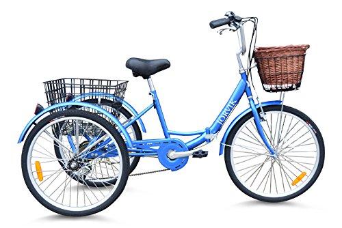 Jorvik Voyage DE Voyage en Tricycle Pliant en Aluminium 24 NEERLANDAIS (Blue)