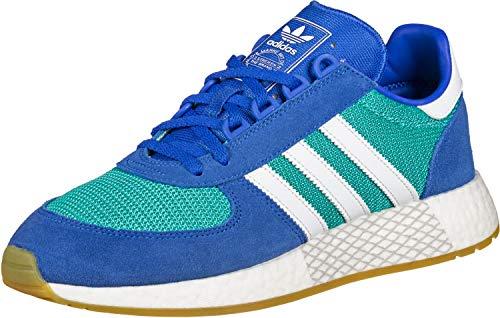 Adidas Schuhe Marathon Tech hi Res Aqua-Footwear White-Blue (EE4918) 42 2/3 Blau