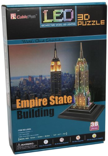 EMPIRE STATE 3D PUZZLE W/BASE