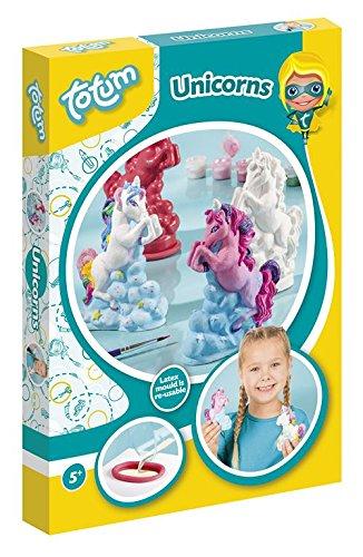 Creativity Einhorn Gipsfiguren – Gipsgießset besteht aus 7 Farben, Pinsel, Latexform, 200g Gips, Kartonhalter, Gebrauchsanweisung