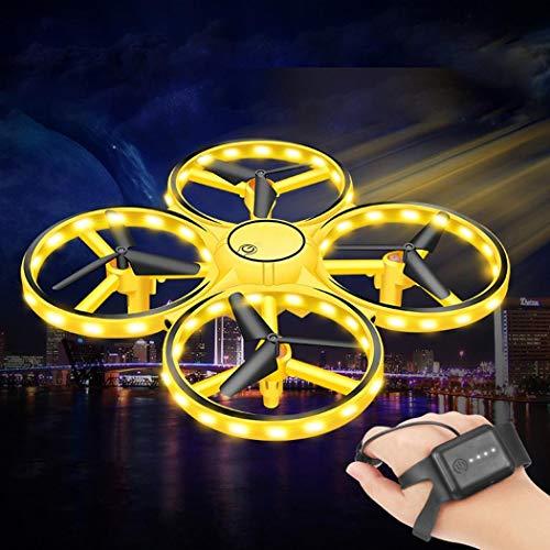 Kisshes Mini Induktionsdrohne Smart Watch Handgeste Fernbedienung RC Quadcopter LED-Licht Fingerboards, Mini-BMX Zubehör