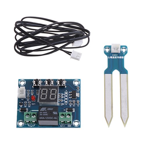 Hergon 12V DC Boden Hygrometer Erkennungsmodul Bodenfeuchte-Sensor für Arduino