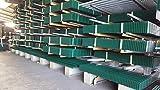 Mattenzaun Doppelstabmatten 10m 1030mm grün Zaun Gittermatten Stahlmattengitterzaun Zauntor Gittermattenzaun Doppelstabzaun Industriezaun Stabmatten