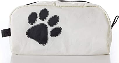 product image for Sea Bags Recycled Sail Cloth Paw Print Toiletry Bag