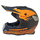 Casco de Motocicleta Cubierta Completa Cuatro Temporadas Off-Road Casco de Motocicleta Off-Road Racing Downhill Pedal Casco Hombres-Matt Black KTM_S
