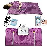 vinmax Far Infrared Sauna Blanket Heating Therapy Slim Bag SPA Body Detox Machine (Purple)