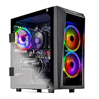 SkyTech Blaze II Gaming Computer PC Desktop – Ryzen 5 3600 6-Core 3.6GHz, GTX 1650 4G, 500G SSD, 8GB DDR4 3000, B450 MB…