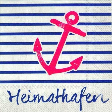 Serviette IHR Motiv: Heimathafen maritim 33x33cm 20 Servietten pro Packung